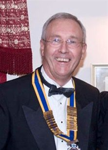 Rotary Presidential Handover 2008 - Colin Every receives Chain of Office from Naeem
