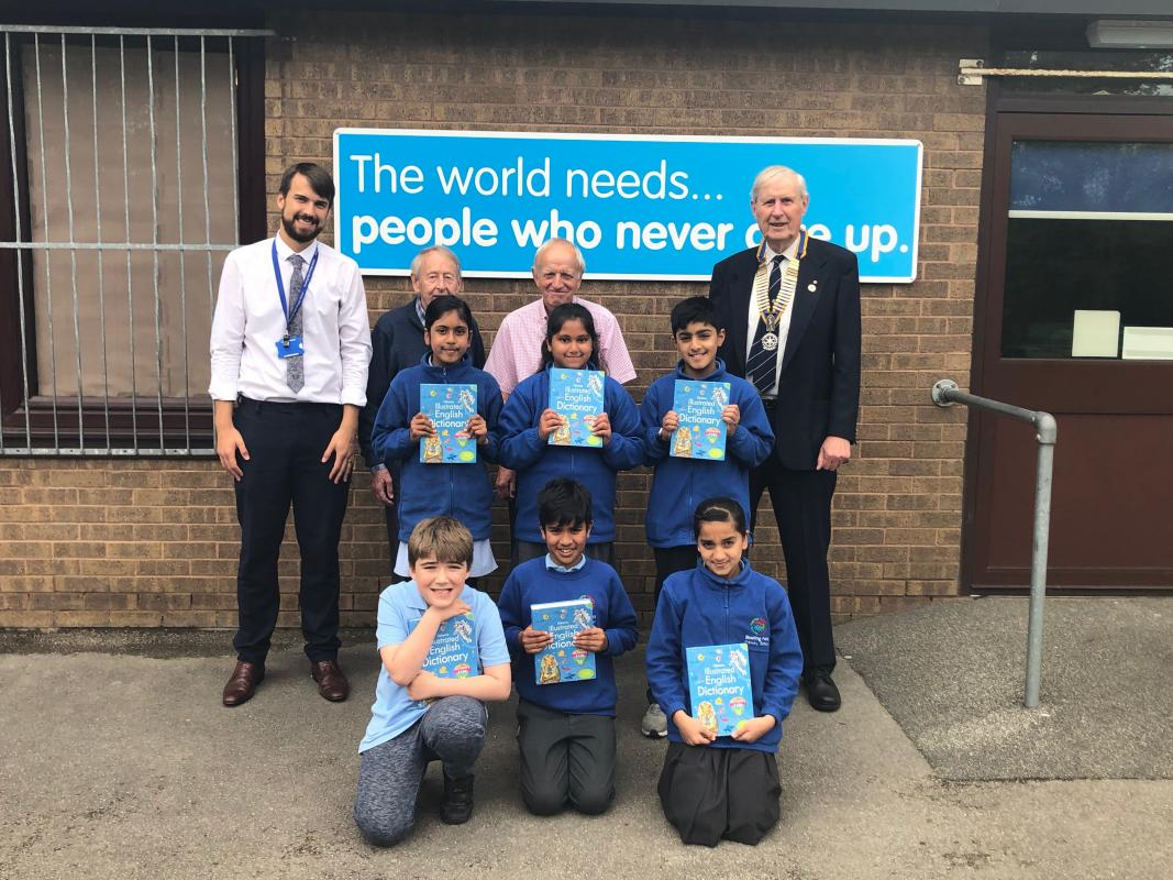 275 Dictionaries 4 Life Presented to Local Schools - Presentations made at Bowling Park Primary School