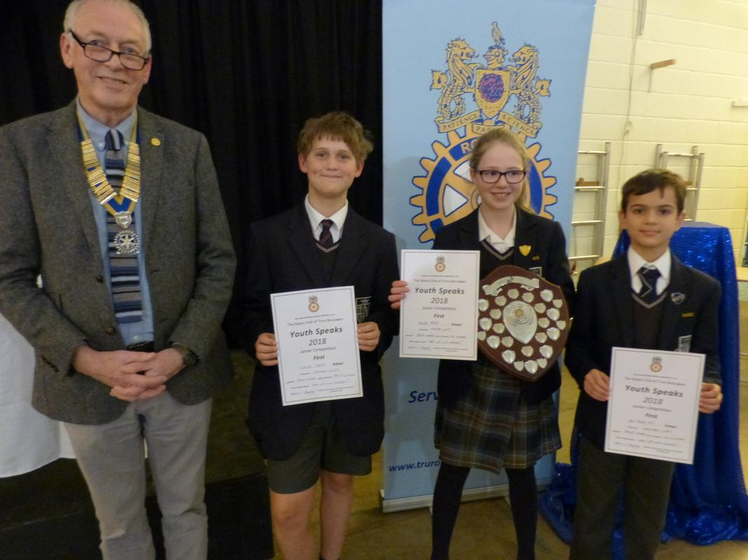 President Peter and the winners - Truro Prep School