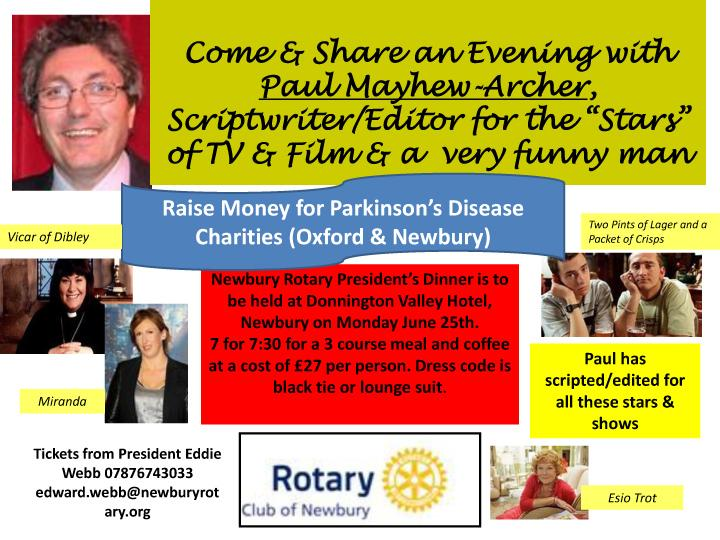 President's Dinner with Paul Mayhew-Archer -