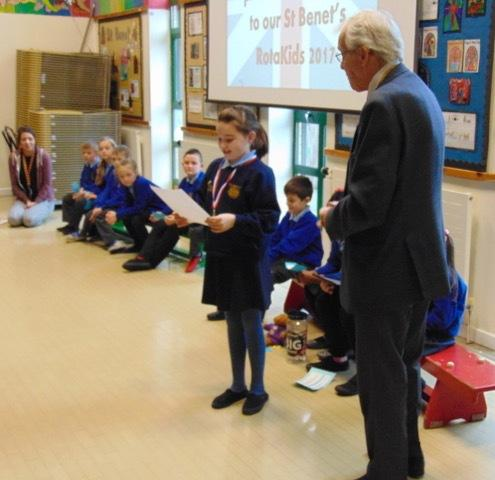 St Benet's Rotakids - Receiving the charter