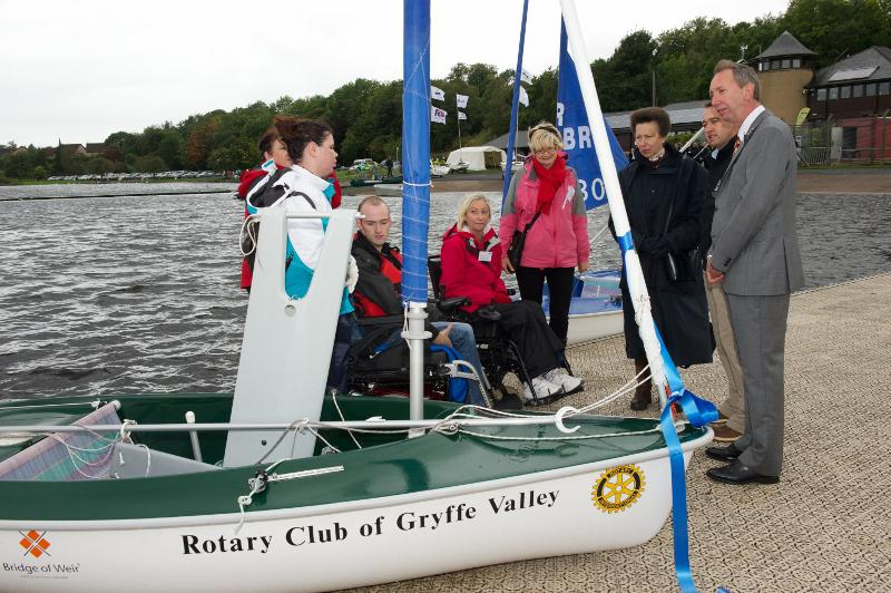 Princess Royal Visits Castle Semple - Hoist and Dinghy in Action!