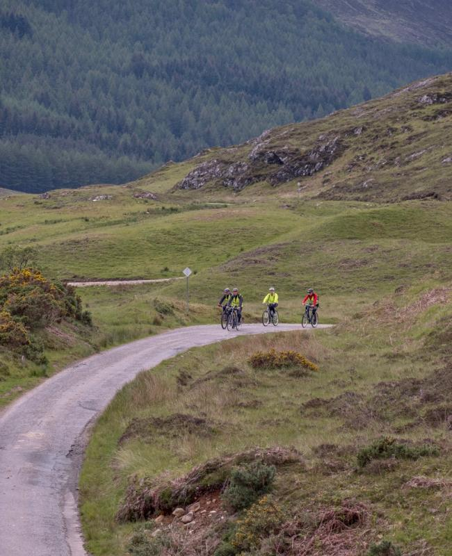 Rotary Cycle Day for Prostate Cancer - HEADING UP THE GLEN