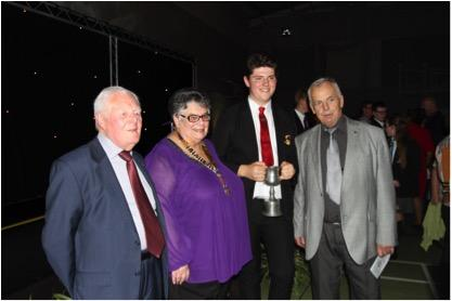 Pupil of the Year - President Gail and Brian Rogers PHF and Howarth Higgs PHF pictured with Daniel Barber of St George's School