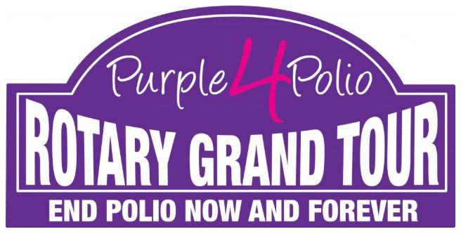 Purple4Polio Rotary Grand Tour visits Monmouth -