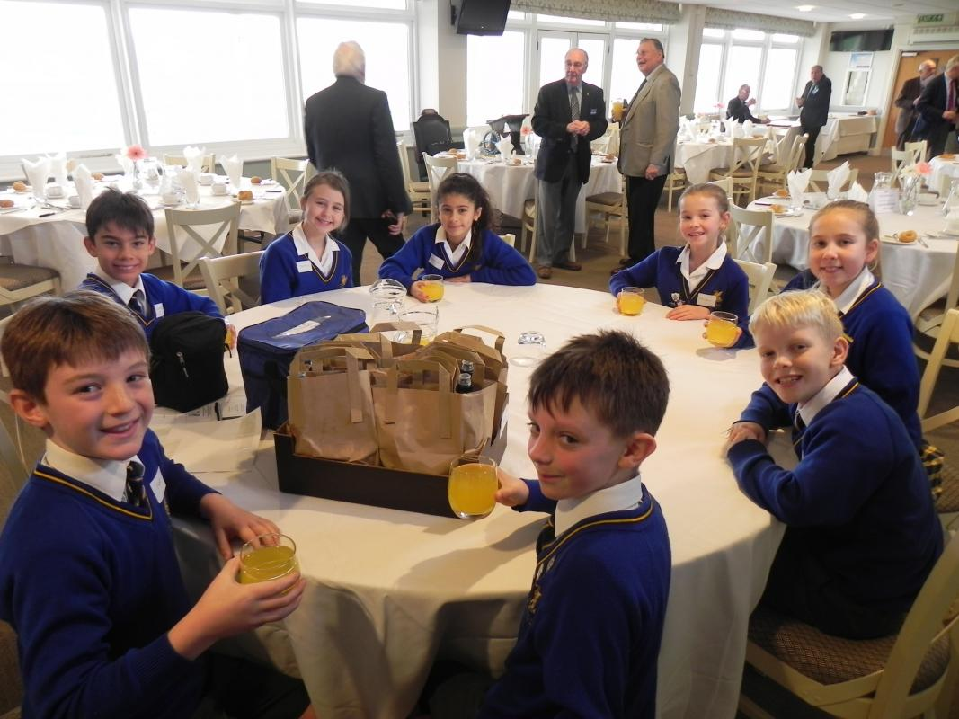 Fundraising through Enterprise - Queen's College young entrepreneurs left Rotarians spellbound