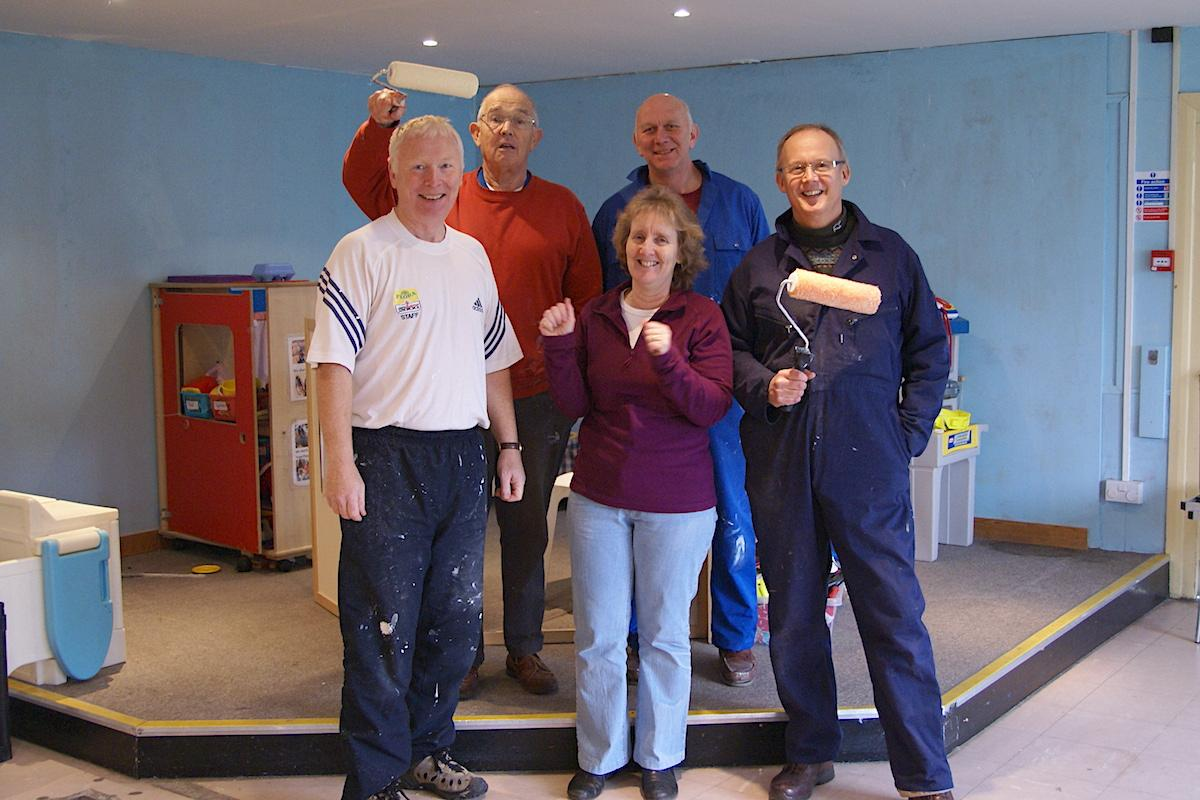 Decorating at Quinton Community Playgroup