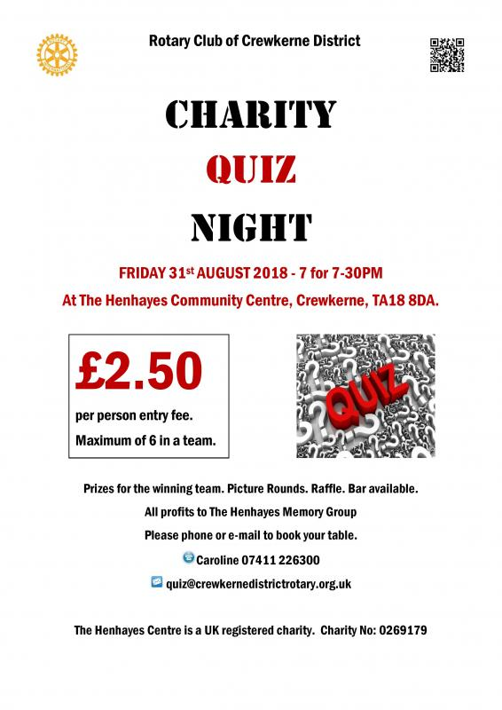 Charity Quiz Night Poster