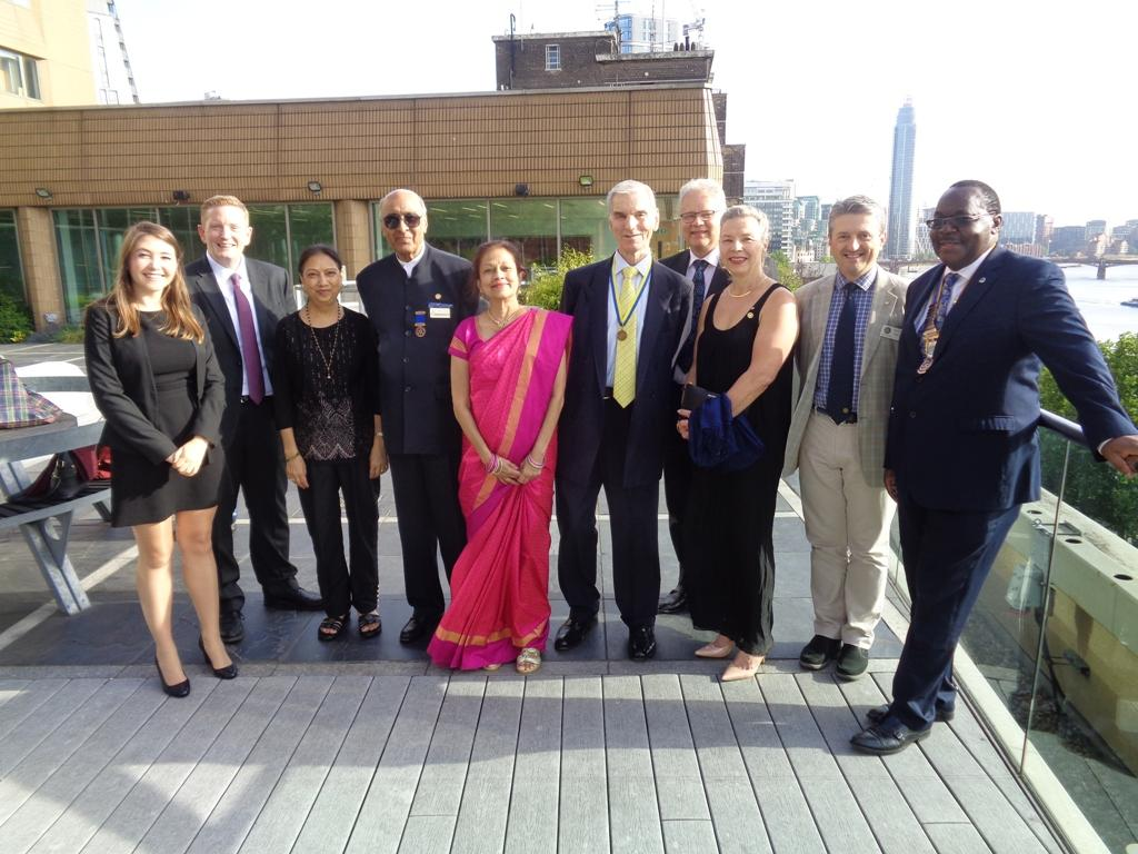 Presidential Hand Over @ the International Maritime Organisation - President Juvenal with members and friends of RC Westminster West on the Terrace of the IMO