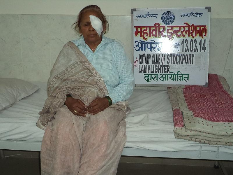 2014 Eye Camps in India - Cataract patient.