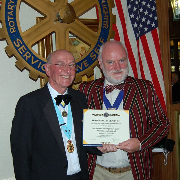 25th Anniversary Charter Celebration - President Philip receives a