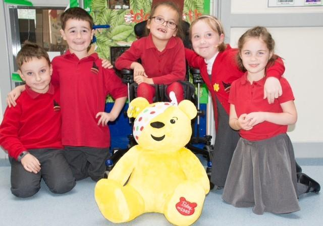 Narberth  Rotakids with Pudsey, the Children in Need Mascot