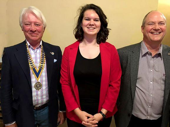 Tess with President Roger and Youth Services Chair Ken