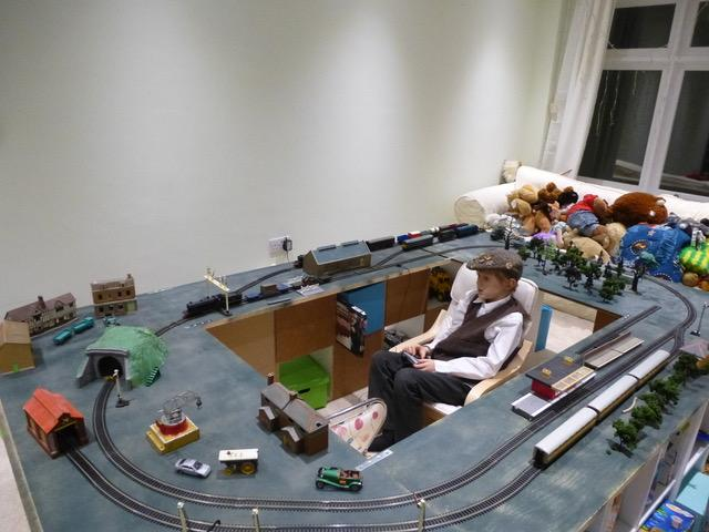 Model Railway's Youngest Ever Exhibitor. - Oliver's layout