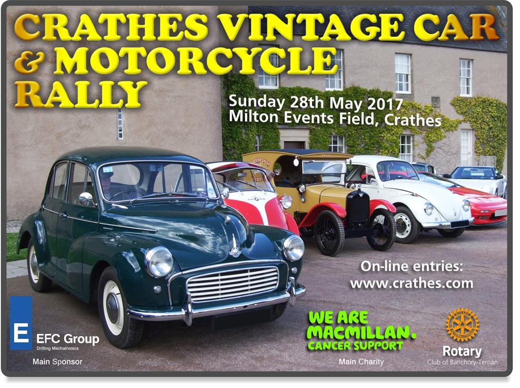 2017 Crathes Vintage Car & Motorcycle Rally - Click on image to enter your vehicle.