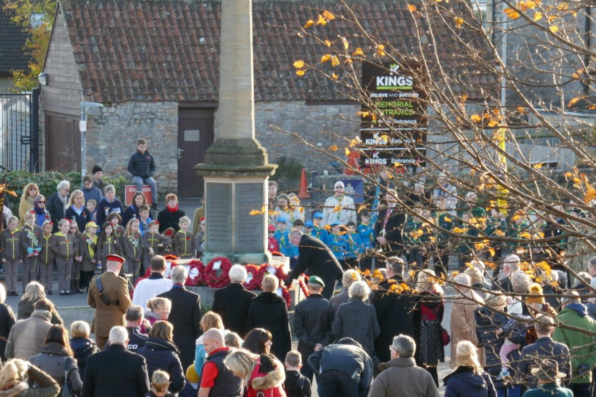Laying a wreath on Rememberence Sunday -