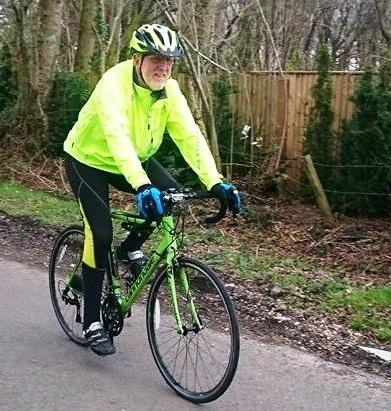 Newbury Rotarian LEJOGing for Charities - Newbury Rotarian Kevin Mosley training for the 1000 mile cycle ride.