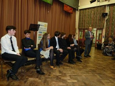 Young Musician competition 2014/2015 - Rodger Appleby -The Head Adjudicator summing up the results of the competition
