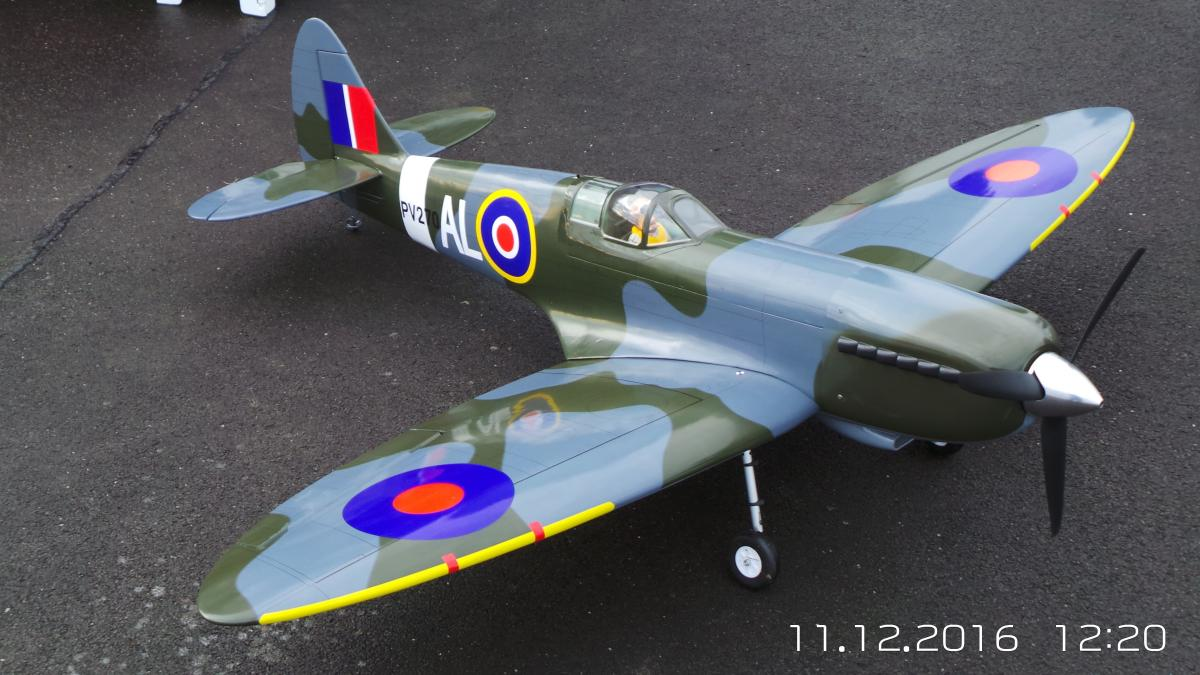 Roger Brookes - The RAF Centenary and the celebration of the  Spitfire - Roger's Model Spitfire