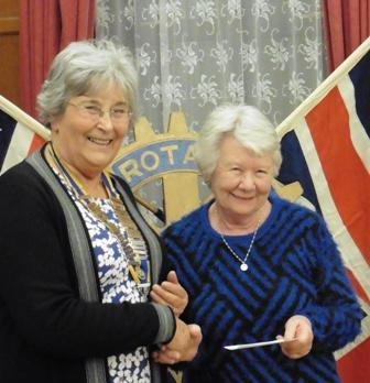 President Rosemary Gibbs with Jean Groves Secretary of the Bedfont Old People's Party