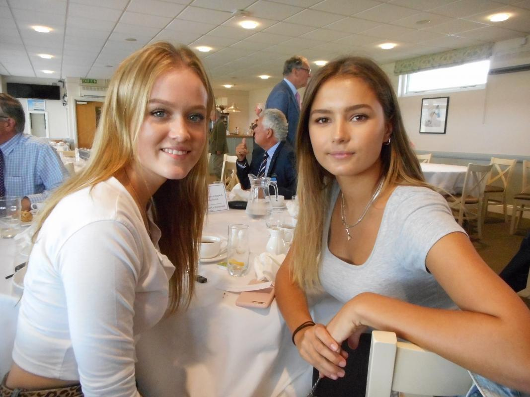 Rosie Jones and Kate Hood sponsored by the Taunton Rotary Club in their visit to the USA