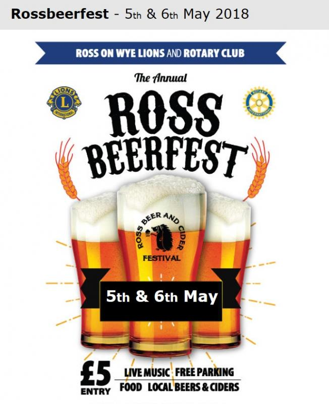Beer & Cider Festival - May Bank Holiday -