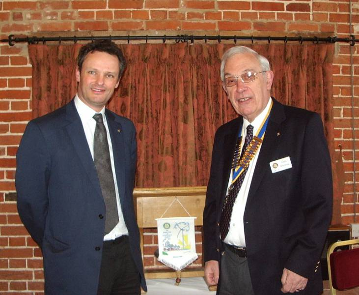 Peter Aldous MP with Club President John Hemming