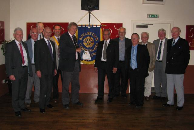 A proud moment in 2011 when the club was presented with the Rotary International Presidents Citation