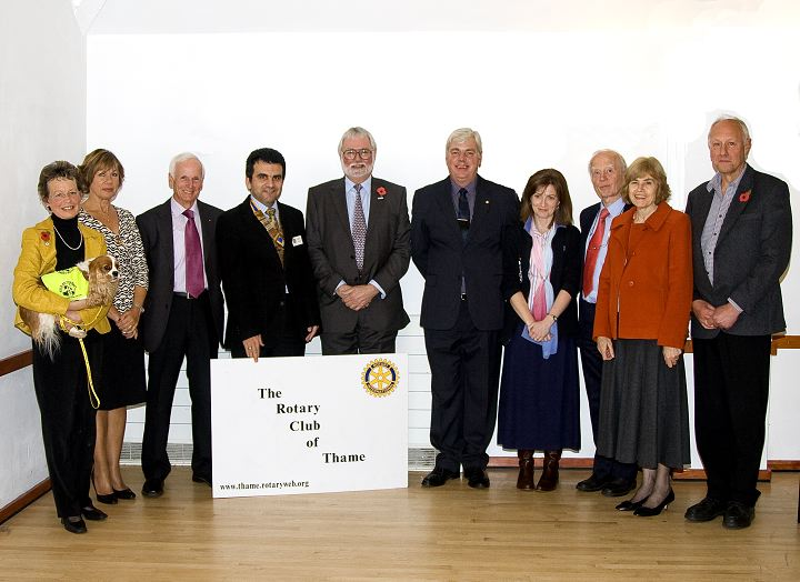 Presentation of Cheques 2008 - Cheques were presented to a range of local good causes by immediate past president Nigel Tonge.