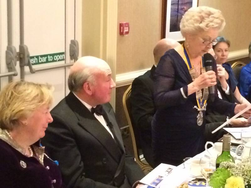 President Gillian Brown with  General the Lord Richard Dannatt and his wife Lady Philippa Dannatt, High Sheriff for Norfolk.