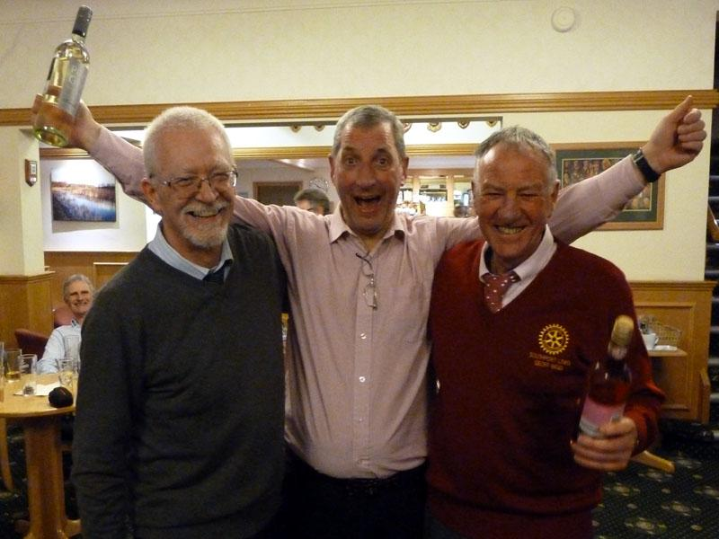 Winning Team Geoff Bigg and Phil Holloway with Tournament Organiser, Dave Collinson
