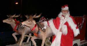Magnificent Reindeer get their first outing with Santa in Hazlemere