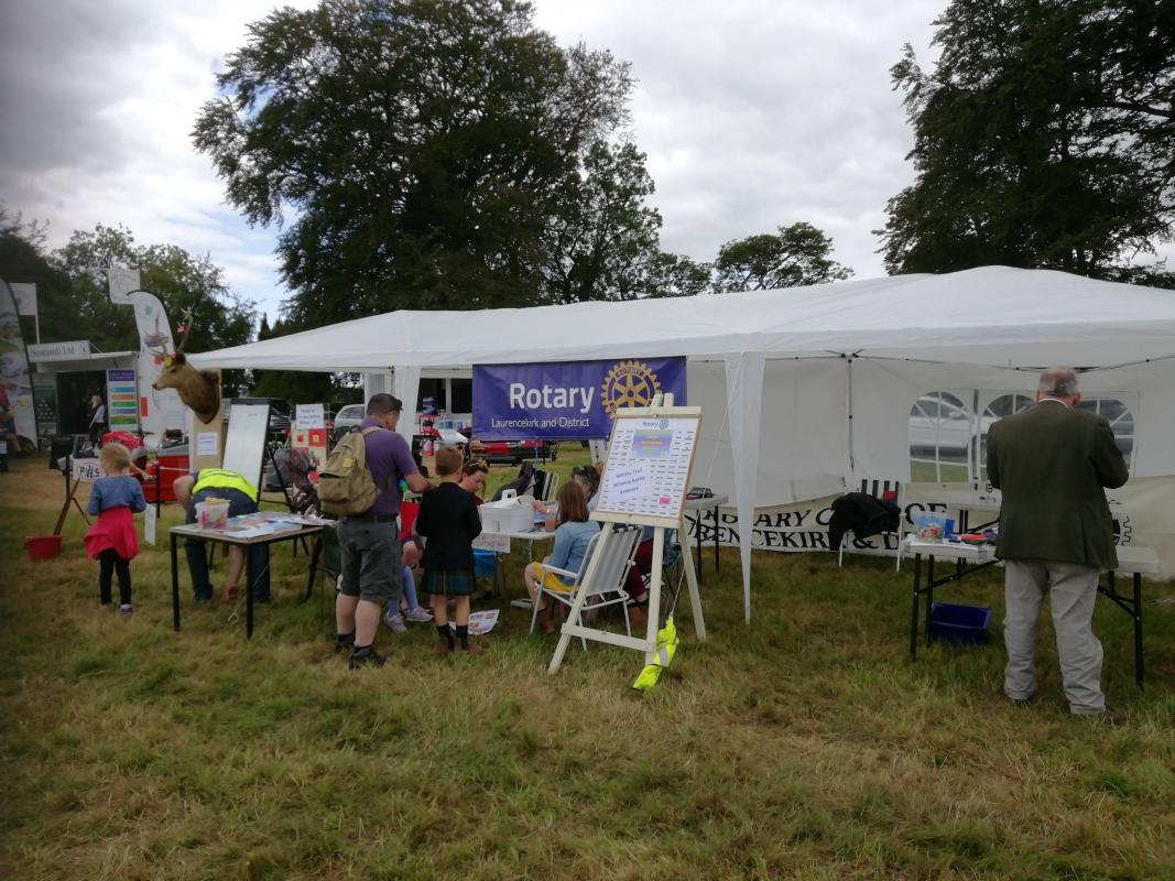 Rotary Stall at the Fettercairn Show 2019