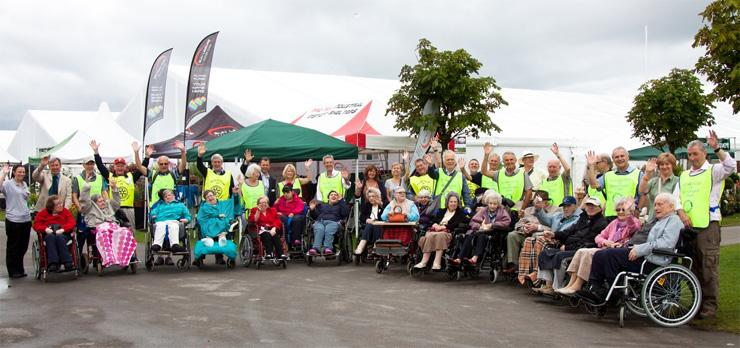 The Southport Flower Show - Wheelchair Push - 2012 - Member of The Rotary Club of Southport Links and guests at The Southport Flower Show 2012