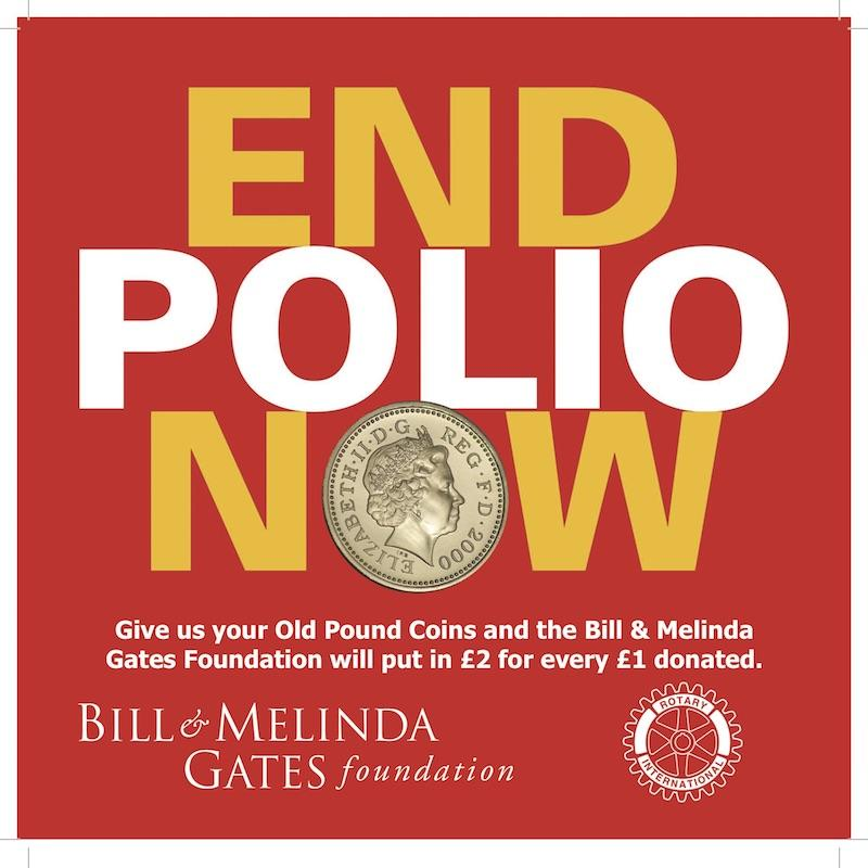 Convert your old £1 coin into £3 for Polio Relief