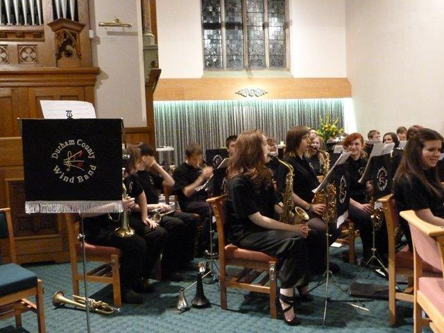 Durham County Wind Band at the 2017 Bede concert.