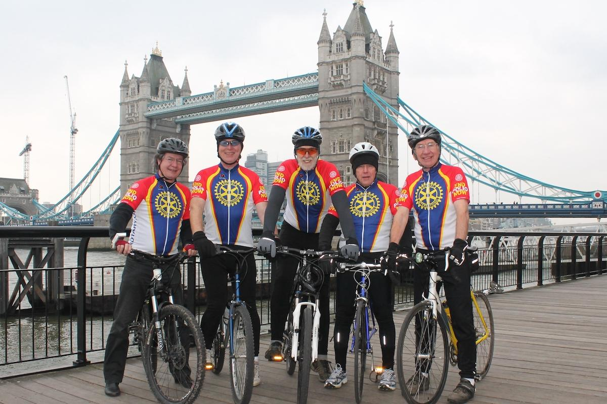 Rotary Day by Tower Bridge in London