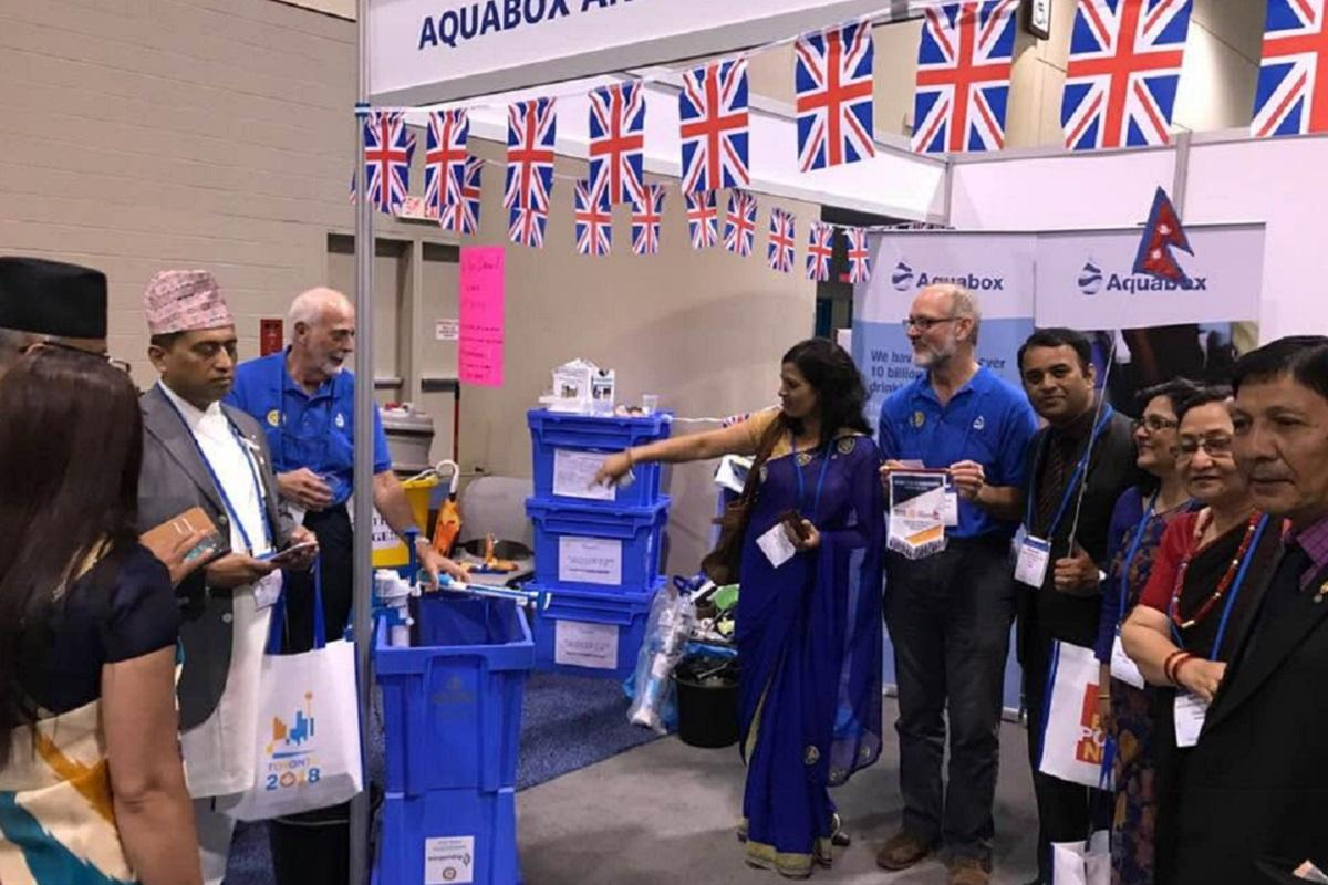 Aquabox partners with Roll Out The Barrel at Toronto convention