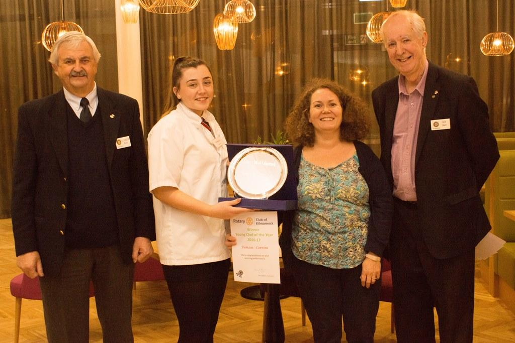 Young Chef Competition - Our winner, Tamzin Corrins along with her teacher, Mrs McErlean