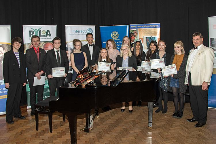 Youth Activities - The main picture show contestants at the District young musician competition 2018.