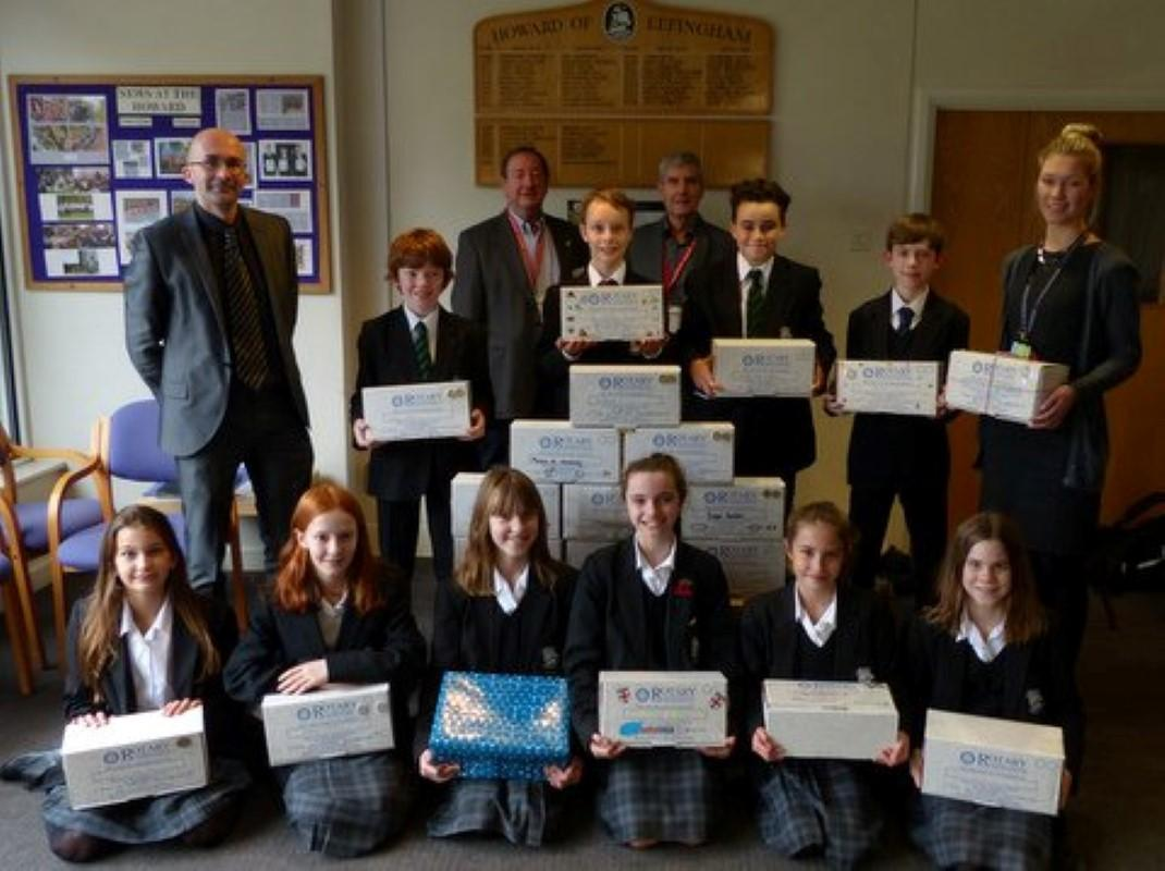 Rotary Shoebox Scheme - Howard of Effingham School
