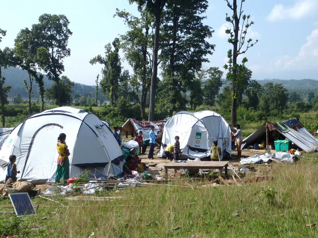 Shelterbox in Nepal