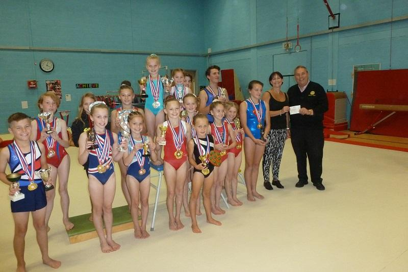 The Rotary Club of Preston (Torbay) donates £400 to South Devon School of Gymnastics to purchase a gym mat.