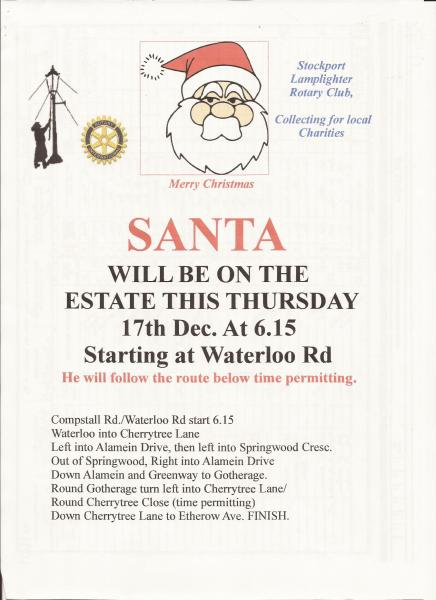 Santa comes to Romiley