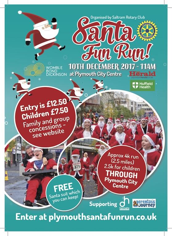 PLYMOUTH SANTA FUN RUN  2017 - See the photos of the 2017 event and go to the link for the video