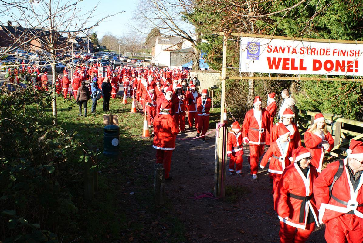 Donations still coming in - See Santa Stride Web Page for details of how to pay.