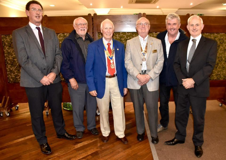 President Tony is pictured with President Neil and members of Saundersfoot Rotary Club