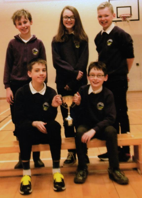 Aviemore Primary School Team won the localheat of the 2018 Rotary District Primary School Quiz in a close competition.