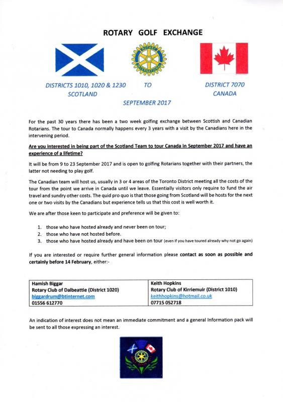 Scotland Canada Golf Tour
