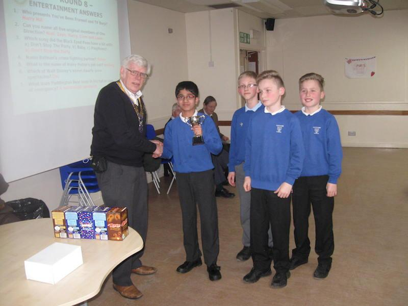 Primary School Quiz 2016 - /Users/Alistair/Desktop/Scotstown receive their winners' trophy-1.JPG